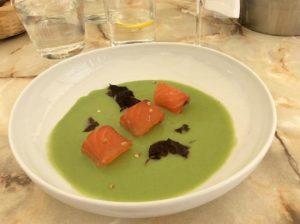 komkommersoep met zalm